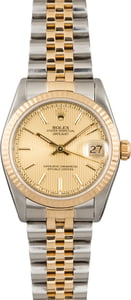 Rolex Datejust 68273 Champagne Tapestry Dial