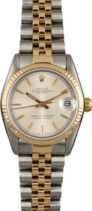 Pre Owned Midsize Rolex Datejust 68273 Tapestry Dial
