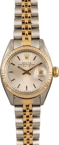 Rolex Datejust 6917 Two Tone Oyster Silver Dial