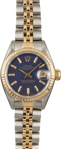 PreOwned Rolex Datejust 69173 Blue Dial