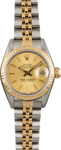 PreOwned Rolex Datejust 69173 Champagne Index Dial