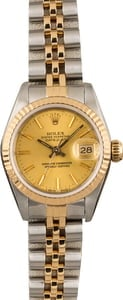 Pre Owned Rolex Datejust 69173 Champagne Index Dial