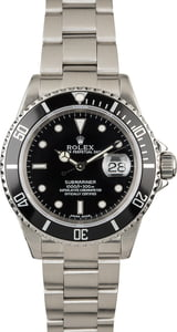 PreOwned Rolex Submariner 16610 Black Dial Diving Watch