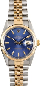 Rolex Datejust Blue 16013
