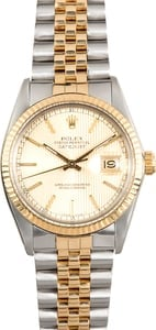 Rolex Datejust Champagne 16013 Steel & Gold
