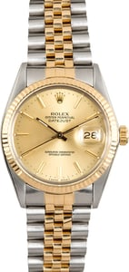 Rolex Datejust Champagne Dial 16013 Two-Tone