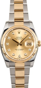 Rolex Datejust Champagne Diamond Dial 116233