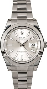 New Rolex Datejust II 116300 Stainless Steel Oyster