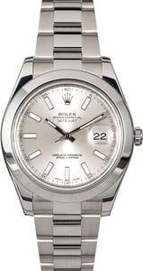 Rolex Datejust II Ref 116300 Silver Dial with Steel Oyster