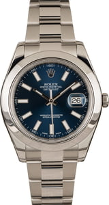 Pre-Owned Rolex Datejust 116300 Blue Dial