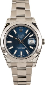 Pre-Owned Rolex Datejust 116300 Luminous Index Dial