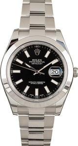 Used Rolex Datejust 116300 Black Dial