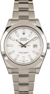 Rolex Datejust II 116300 White Dial