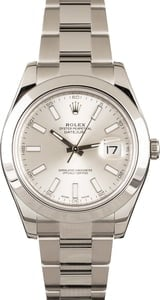 Pre-Owned Rolex 116300 Datejust II Silver Dial