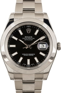 Pre-Owned Rolex Datejust 116300 Black Dial