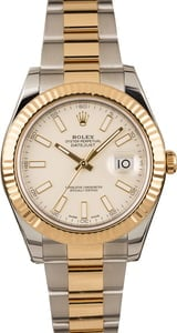 PreOwned Rolex Datejust II Two Tone Ivory Dial 116333 T
