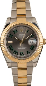 Rolex Datejust II Ref 116333 Two Tone with Roman Markers