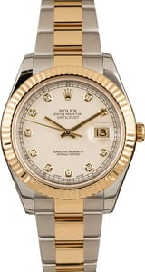 Pre-Owned Rolex Datejust 116333 Ivory Diamond Dial