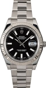 Men's Rolex Datejust 116334 Black Dial