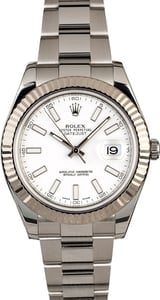 Used Rolex Datejust II Ref 116334 White Luminescent