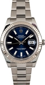 PreOwned Rolex Datejust II Ref 116334 Blue Index Dial