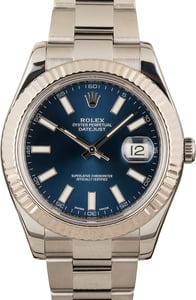 Steel Rolex Datejust II Ref 116334 Blue Dial