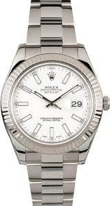 Rolex Datejust II 116334 41MM White