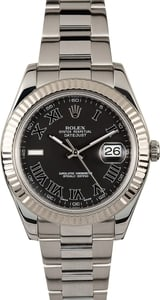Rolex Datejust II 116334 Black Roman