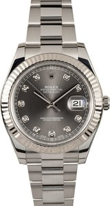 Rolex Datejust II 116334 Rhodium Diamond