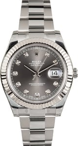 Rolex Datejust II 116334 Rhodium Diamond Dial