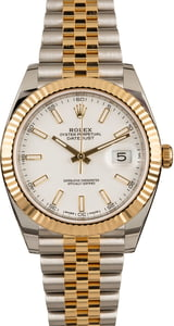 Pre-Owned Rolex Datejust 126333 White Index Dial