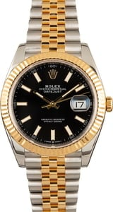 Pre Owned Rolex Datejust 41 Ref 126333 Black Dial