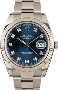 PreOwned Rolex Datejust II Ref 126334 Blue Diamond Dial