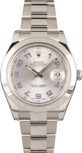 Rolex Datejust II 41MM 116300 Silver Arabic
