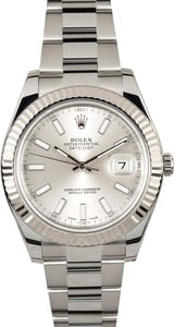 Rolex Datejust II 116334 White Gold Fluted Bezel