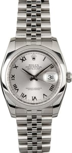 Rolex Datejust Stainless 116200 Roman Dial