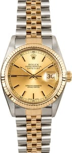 Rolex Datejust Stainless Steel and 18k Gold 16013