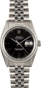 Rolex Datejust Steel 16030 Black