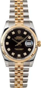 Rolex Datejust Two-Tone 116233 Black Diamond