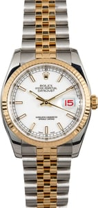 Rolex Datejust Two-Tone 116233 White Dial