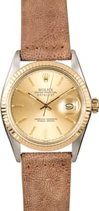 Rolex Datejust Two-Tone 16013 Leather Strap