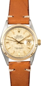 Rolex Datejust Two-Tone 16013 Linen Dial
