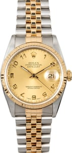 Rolex Datejust Two-Tone 16233 Arabic Dial
