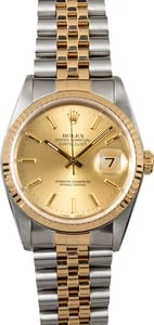 Rolex Datejust Watch 16233 Champagne