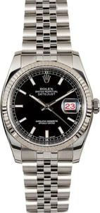 Rolex Black Datejust 116234 Jubilee