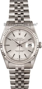 Rolex DateJust Steel and 18K White Gold 16234