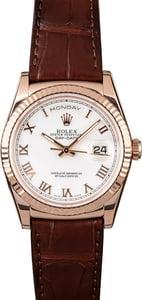 Pre Owned Rolex Day-Date 118135 Everose Gold Case