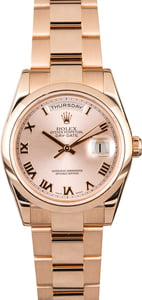 Rolex Day-Date 118205 Everose Gold Oyster