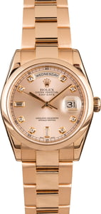 18k Rose Gold Rolex Day-Date 118205
