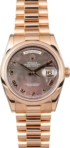 Rose Gold Rolex Day-Date Presidential 118205